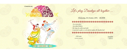 Let's play Dandiya all together ...