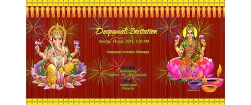 Deepawali Invitation