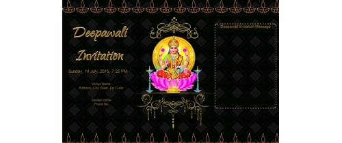 Deepawali Invitation