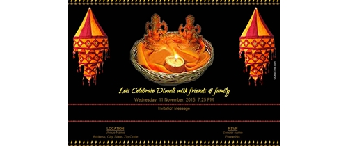 Lets Celebrate Diwali with friends & family