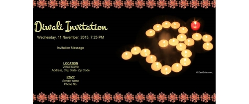 Diwali Invitation