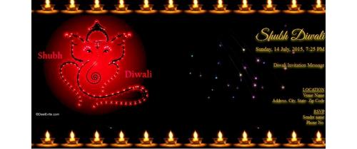 Diwali Invitation