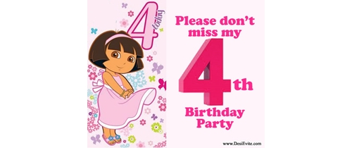 Please don't miss my 4th Birthday Party