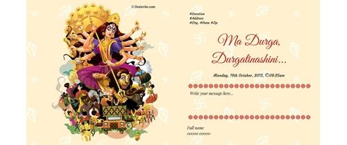 Free Durga Puja Invitation Card Online Invitations