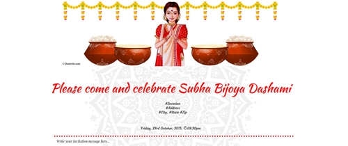 You're cordially invited for Subho Bijoya Dashami