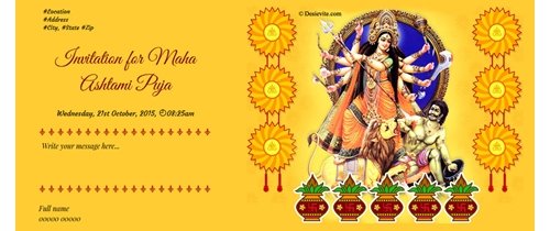 Free durga puja invitation card online invitations durgostav invitation stopboris Image collections