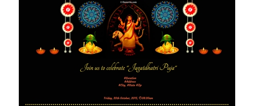 Invitation for Jagatdhatri Puja