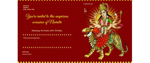 Hindi English Navratri Invitation