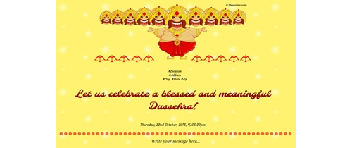 Blessed and meaningful Dassera
