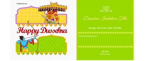 Welcome to Dussehra