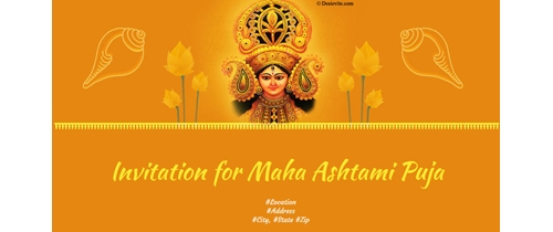 Invitation for Maha Ashtami Puja