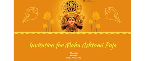 Invitation for Maha Ashtami Puja