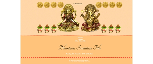 Best wishes for Dhanteras