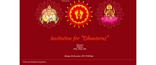 Invitation for Dhanteras
