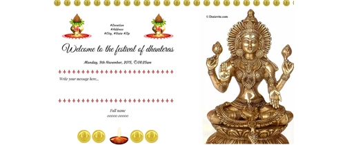 Welcome to the festival of dhanteras