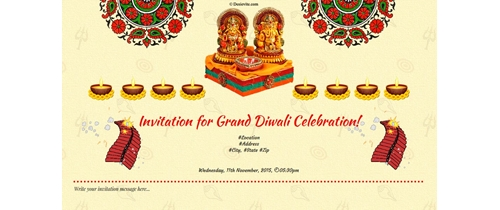 Diwali Invitation  for peace and prosperity