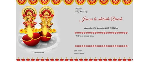 Om Diwali Invitation  to all