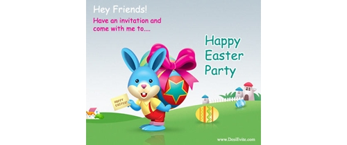 Hey Friends! have an invitation and come with me to Easter party