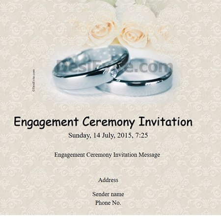 True love strories, never have ending Engagement invitation