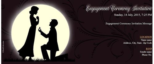 Please be part of it Engagement ceremony