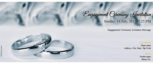 True love strories never have ending Engagement invitation