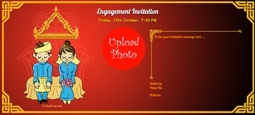 Engagement card buddhist tradition