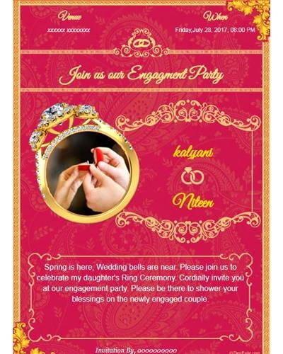 Free engagement invitation card video online invitations invitation with image latest engagement design card stopboris Choice Image