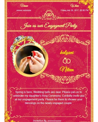 Invitation With Image Latest Engagement Design Card  Format Of Engagement Invitation