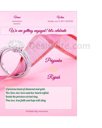 Invitation With Image We Are Getting Engaged, Letu0027s Celebrate  Free Engagement Invitation Templates