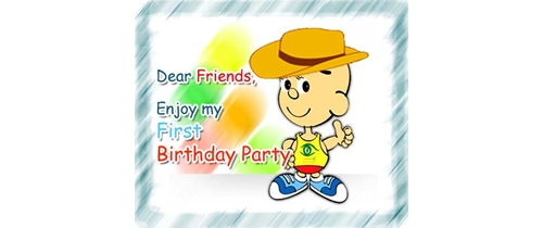 Dear frinds enjoy my 1st Birthday Party