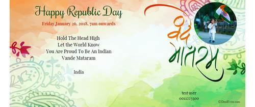 Invitation for Republic day function