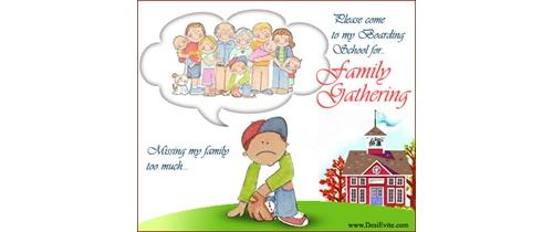 Boarding school Family Gathering