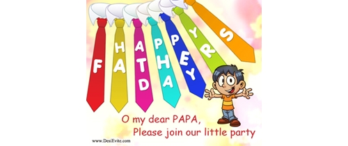 O My dear papa please join my little Party