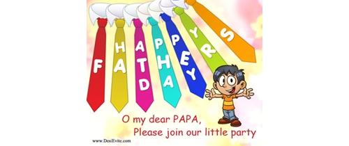 O My dear papa please join my little Party