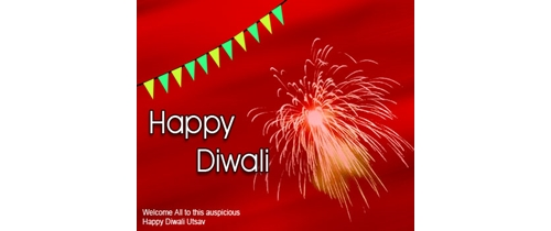 Celebrate Diwali  with fireworks