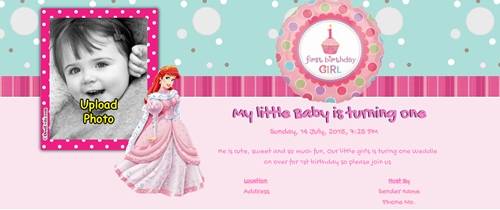 1st Birthday Invitation for Girls