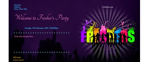 Free freshers party invitation card online invitations this is party time stopboris Gallery