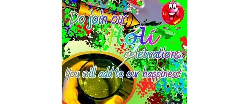 Do join our Holi festivals