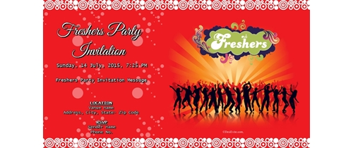 Free freshers party invitation card online invitations freshers party stopboris Choice Image