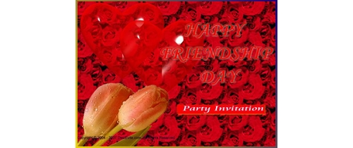 Friendship Day Party Invitation