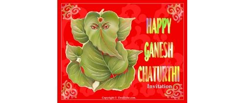 Ganesh Chaturthi Invitation