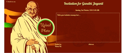 Celebrate Mahatma Gandhi's birthday
