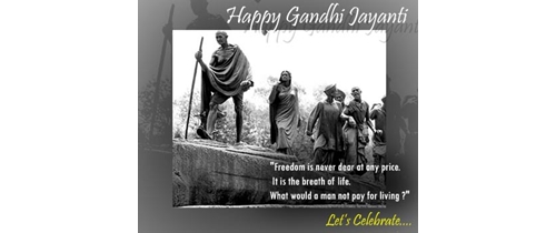 Let's celebrate Gandhi Jayanti