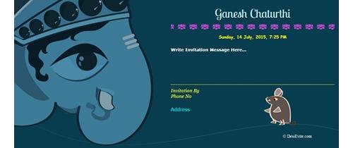 Celebrate Ganesh Chaturthi Invitation