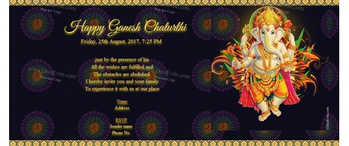 Free ganesh chaturthi invitation card online invitations shree ganesh chaturthi invitation stopboris Image collections