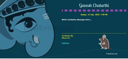 Celebrate Ganesh Chaturthi Invitation