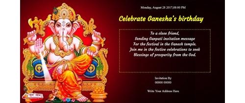 Celebrate Ganesha's birthday