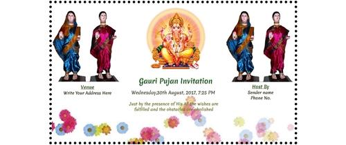 Free ganesh chaturthi invitation card online invitations gauri ganpati pujan stopboris Choice Image
