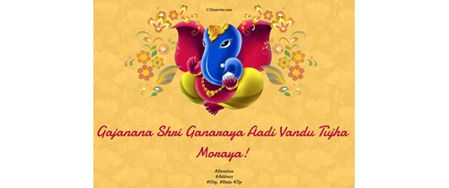 Welcome to our festival Ganesh Utsav