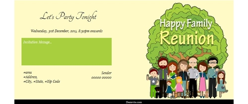Free Get together Invitation Card Online Invitations – Family Reunion Invitation